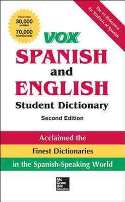 VOX Spanish and English Student Dictionary, Hardcover, 2nd Edition