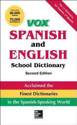 VOX Spanish and English School Dictionary, Paperback, 2nd Edition