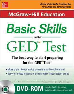 McGraw-Hill Education Basic Skills for the GED Test, 2nd Edition (Book + CD Set)