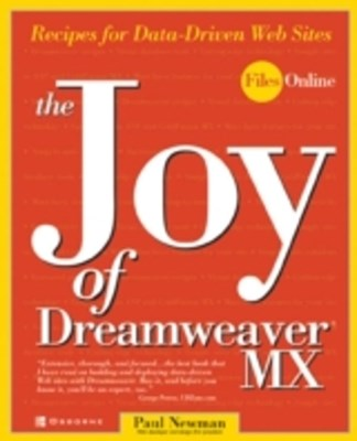 Joy of Dreamweaver MX: Recipes for Data-Driven Web Sites