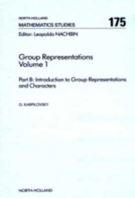 Group Representations Volume 1 Part B