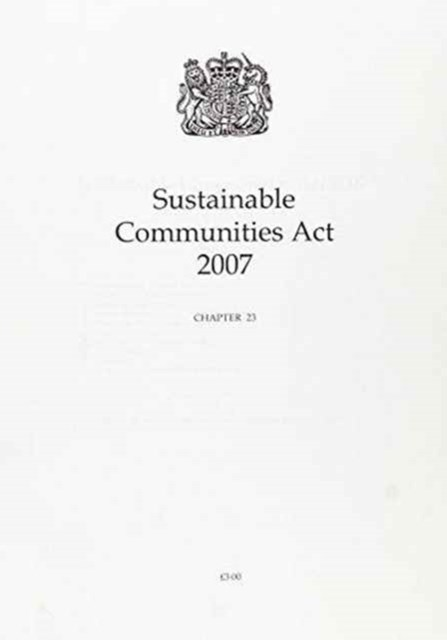 Sustainable Communities Act 2007