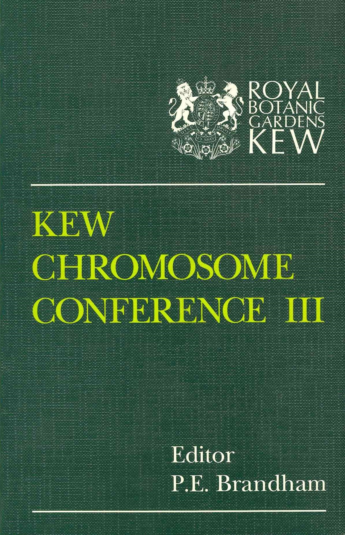 Kew Chromosome Conference III