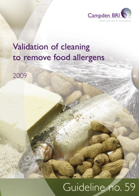 Validation of cleaning to remove food allergens