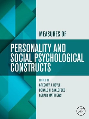 (ebook) Measures of Personality and Social Psychological Constructs