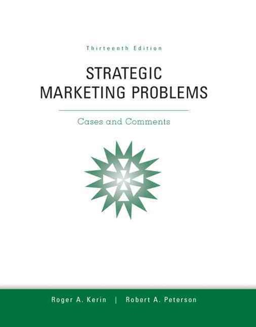 Strategic Marketing Problems