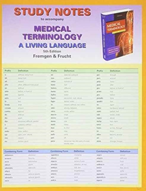 Study Notes for Medical Terminology