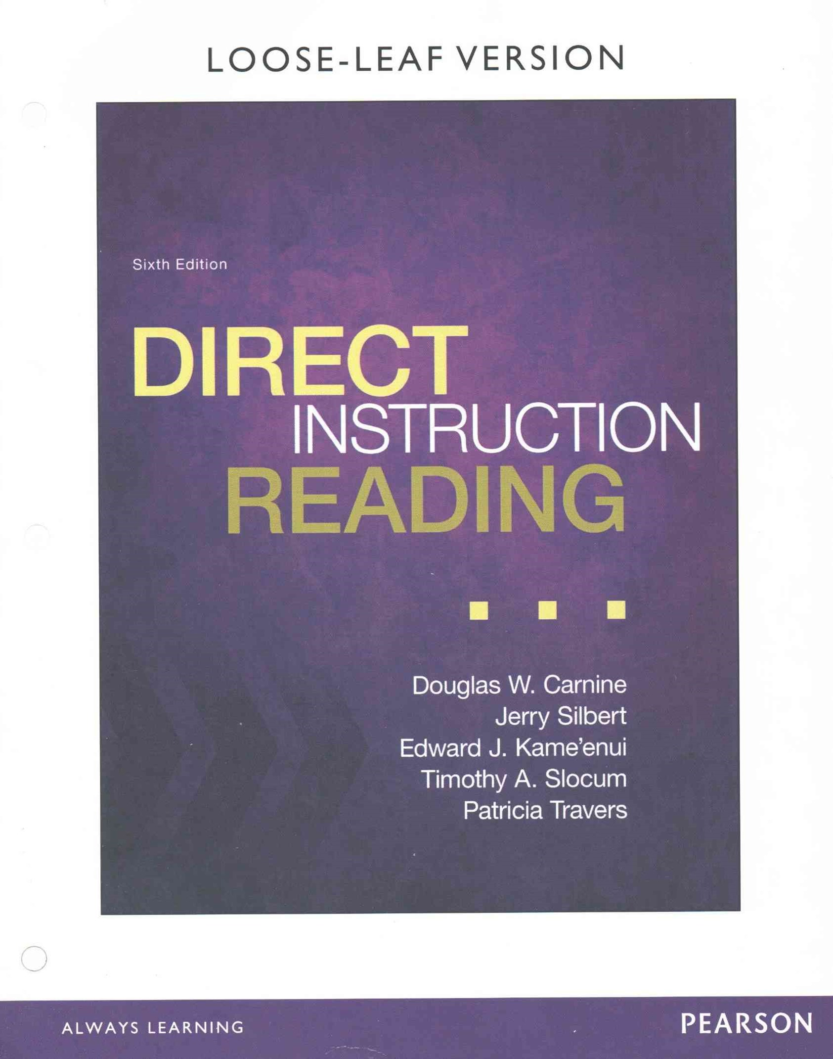 Direct Instruction Reading, Enhanced Pearson EText with Loose Leaf Version -- Access Card Package