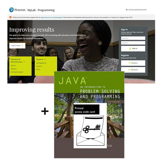 MyProgrammingLab with Pearson eText--Access Code Card--for Java: An Introduction to Problem Solving and Programming