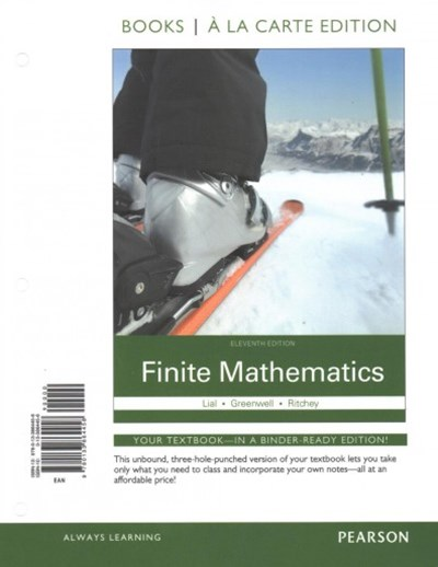 Finite Mathematics, Books a la Carte Plus MyMathLab Access Card Package