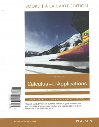 Calculus with Applications, Books a la Carte Plus MyMathLab Package