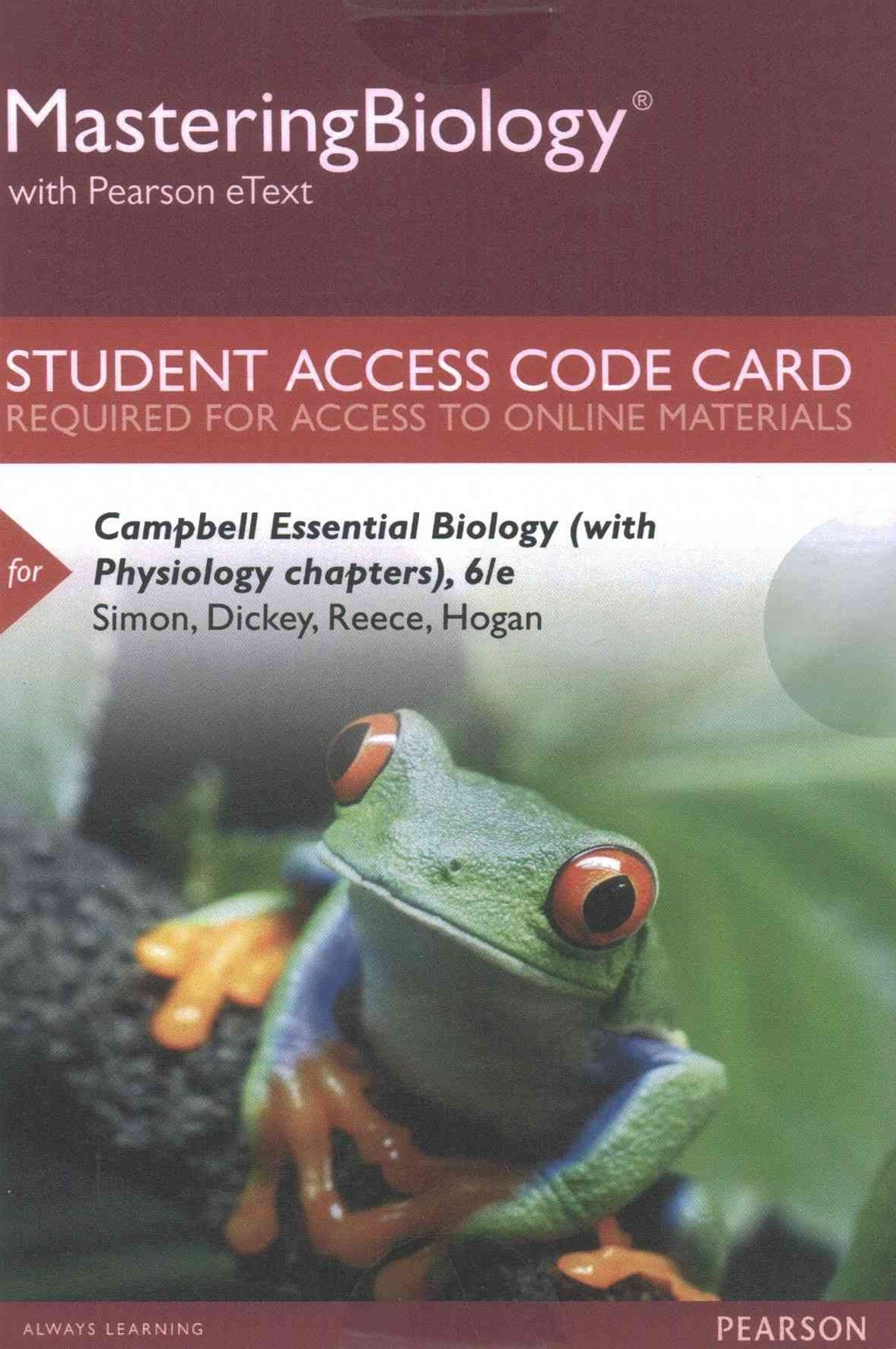 MasteringBiology with Pearson EText -- Standalone Access Card -- for Campbell Essential Biology (wi