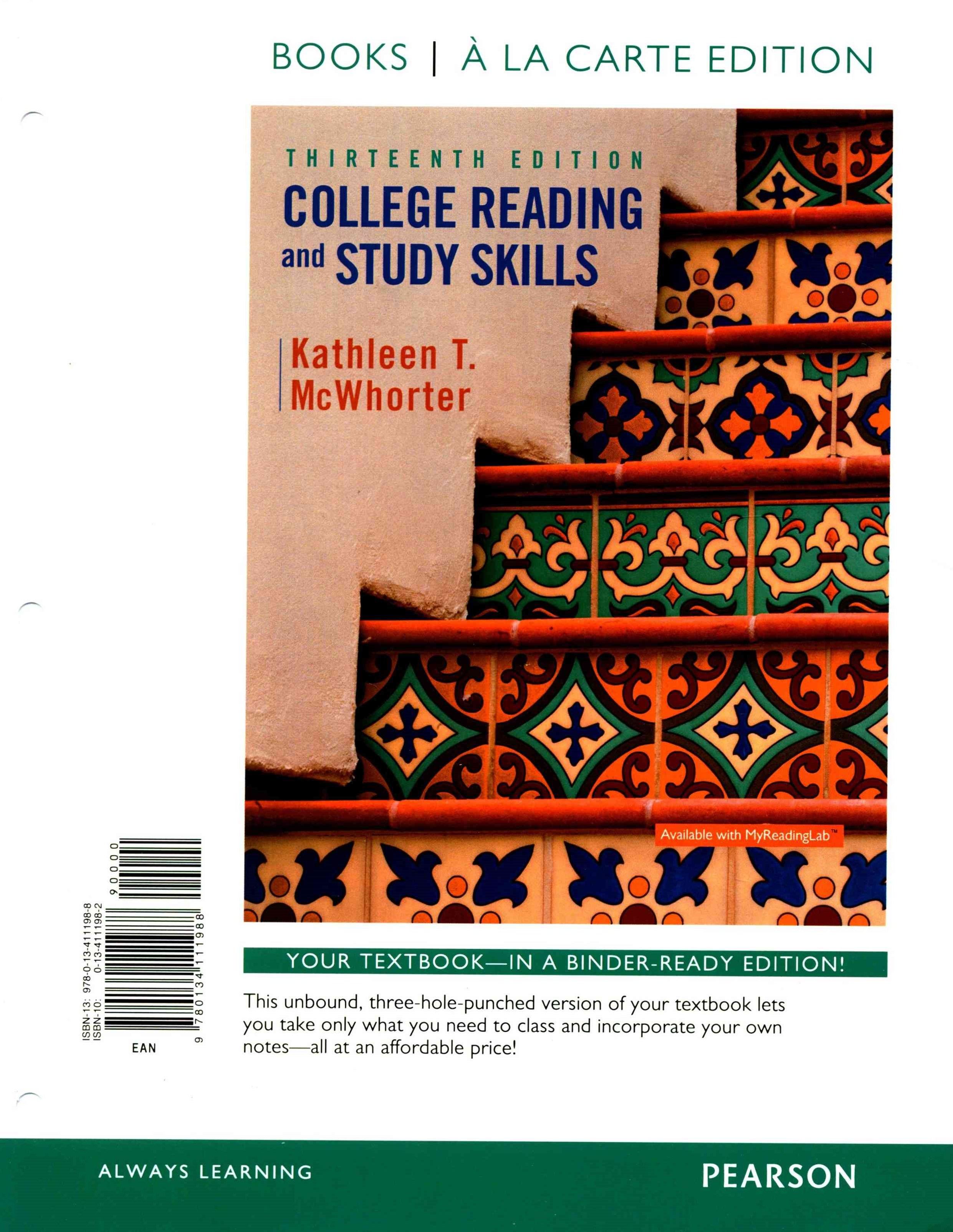 College Reading and Study Skills, Books a la Carte Plus MyReadingLab with Pearson EText -- Access C