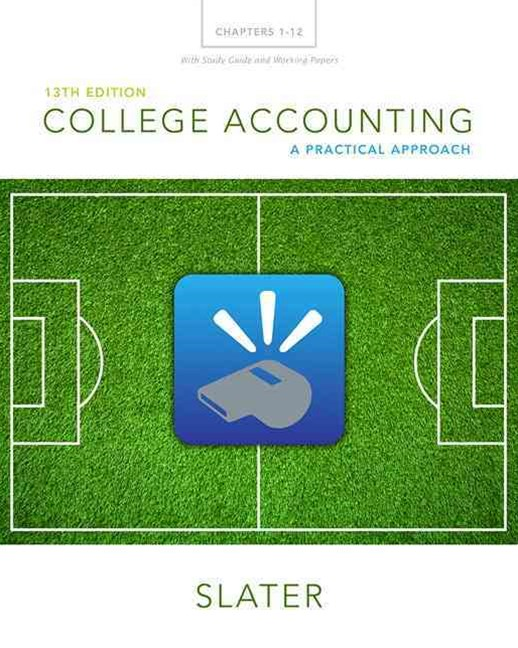 College Accounting Chapters 1-12 with Study Guide and Working Papers Plus MyAccountingLab with Pear