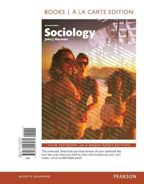 Sociology, Books a la Carte Edition