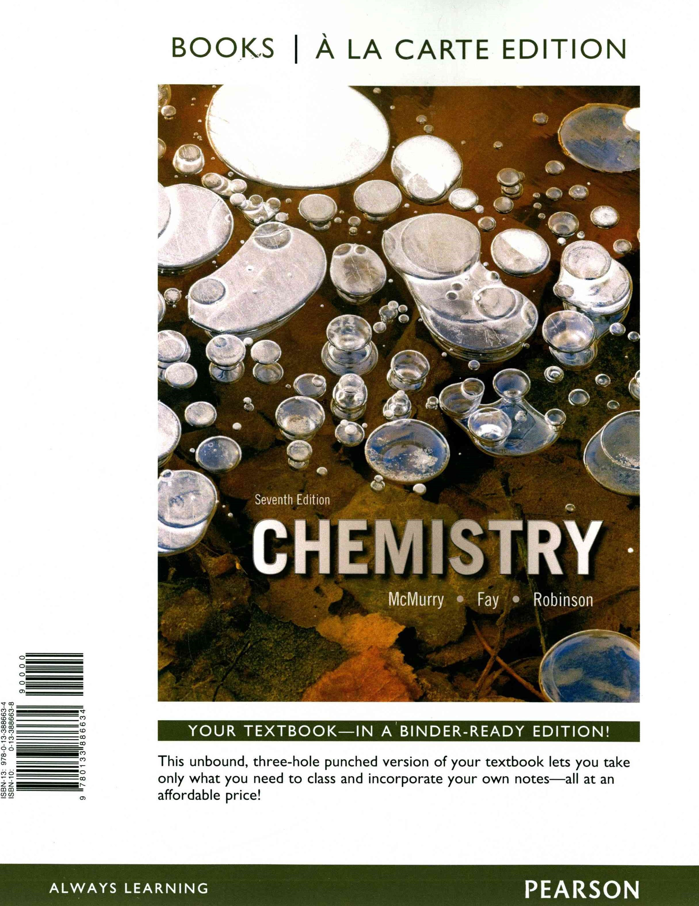 Chemistry, Books a la Carte Edition and Modified MasteringChemistry with Pearson EText and ValuePac