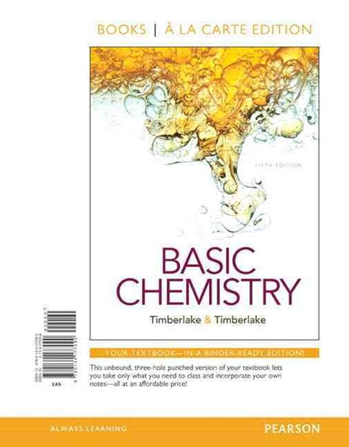 Basic Chemistry, Books a la Carte Edition