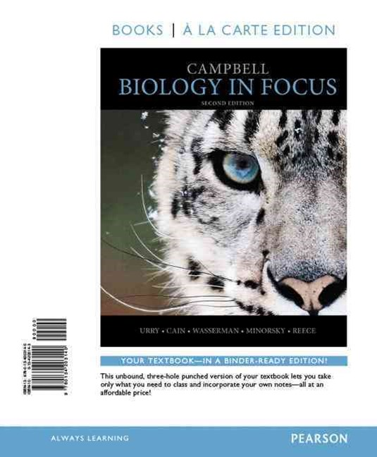 Campbell Biology in Focus, Books a la Carte Edition