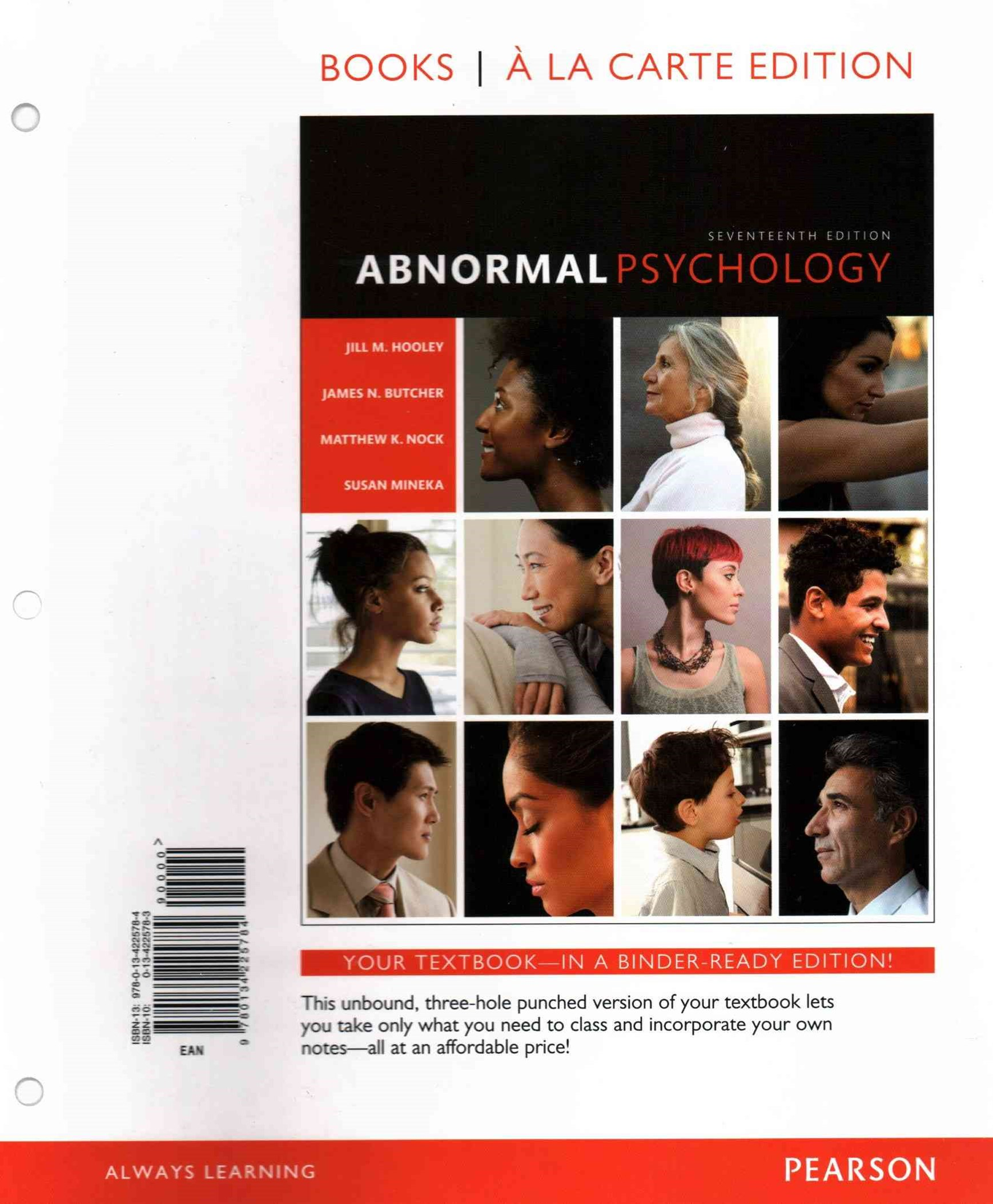Abnormal Psychology, Books Ala Carte Edition