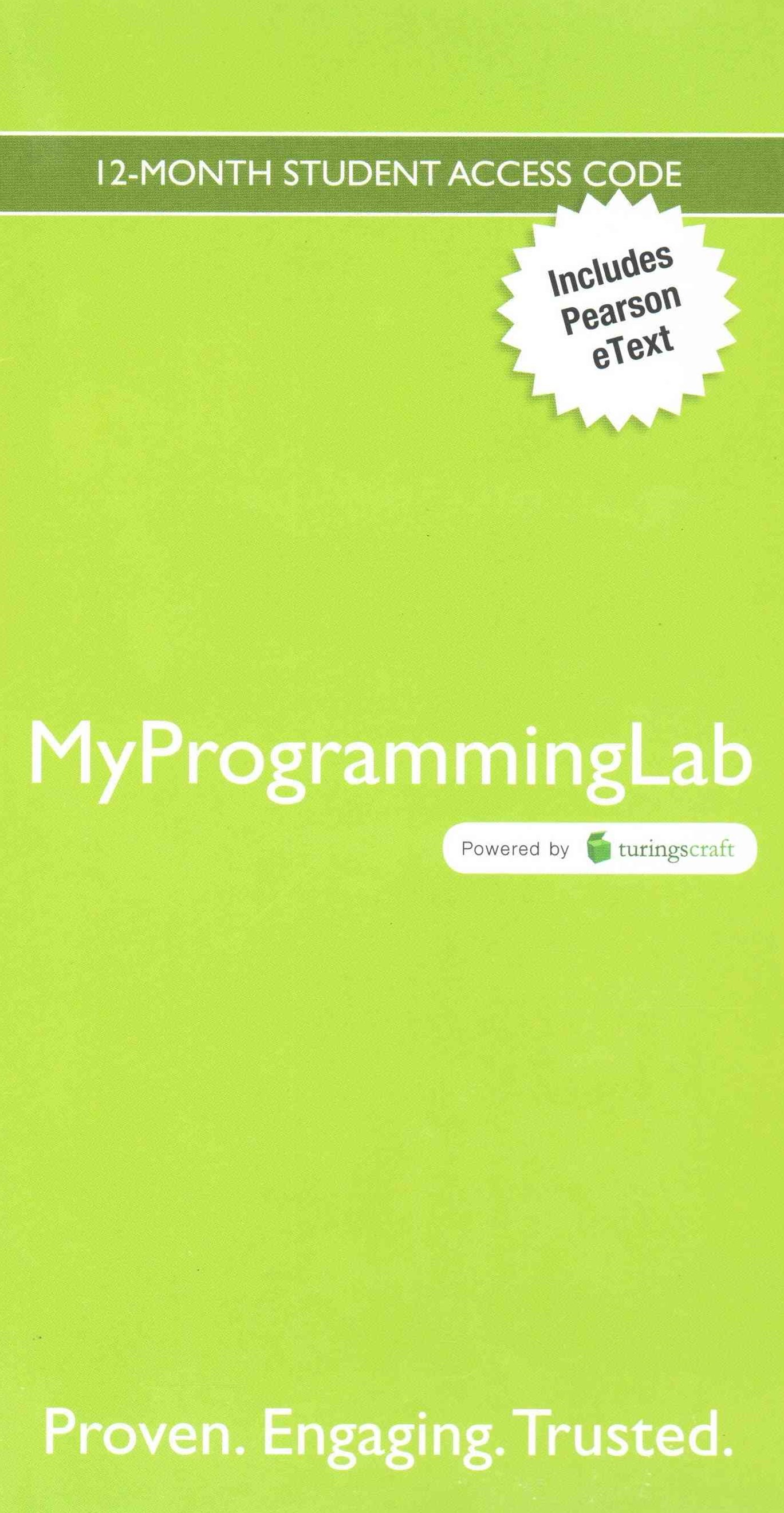 MyProgrammingLab with Pearson EText -- Access Code Card -- for Absolute C++