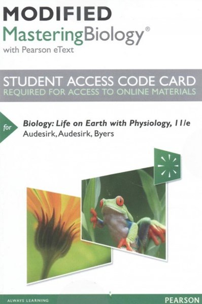 Modified MasteringBiology with Pearson EText -- Standalone Access Card -- for Biology