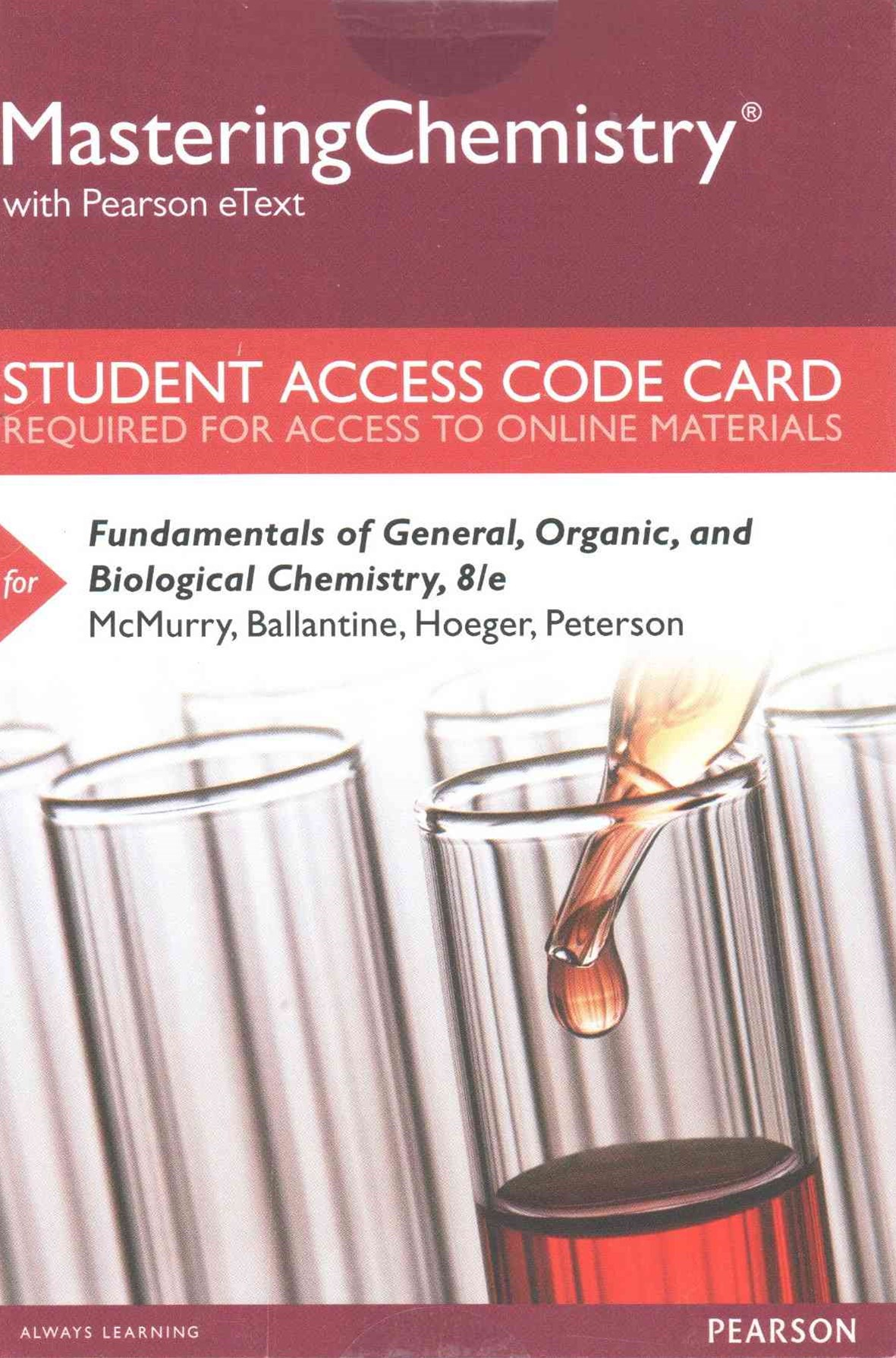 MasteringChemistry with Pearson EText -- Standalone Access Card -- for Fundamentals of General, Org