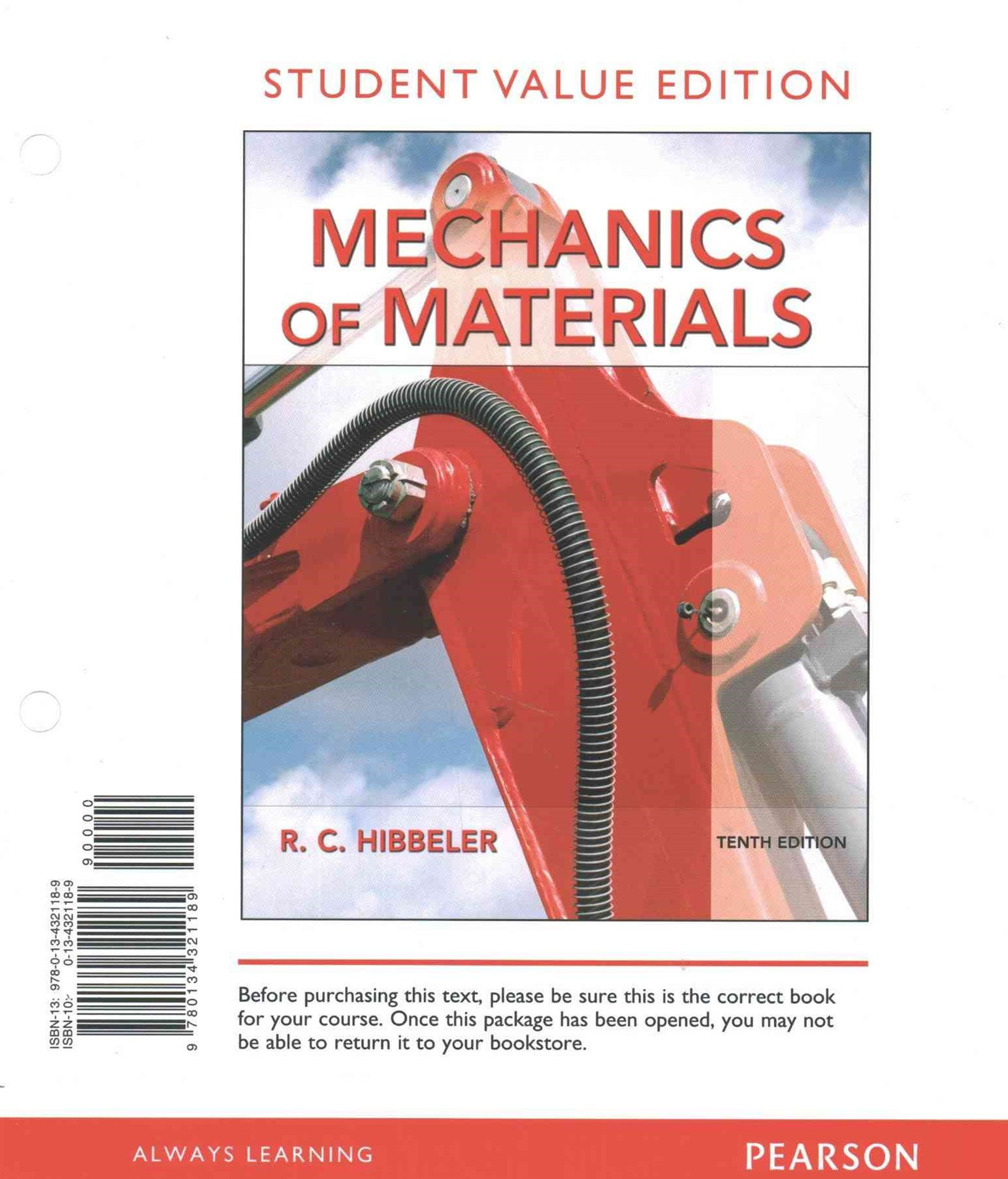 Mechanics of Materials, Student Value Edition Plus MasteringEngineering with Pearson EText -- Acces