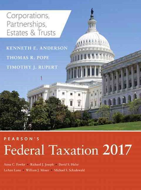 Prentice Hall's Federal Taxation 2017 Corporations, Partnerships, Estates and Trusts
