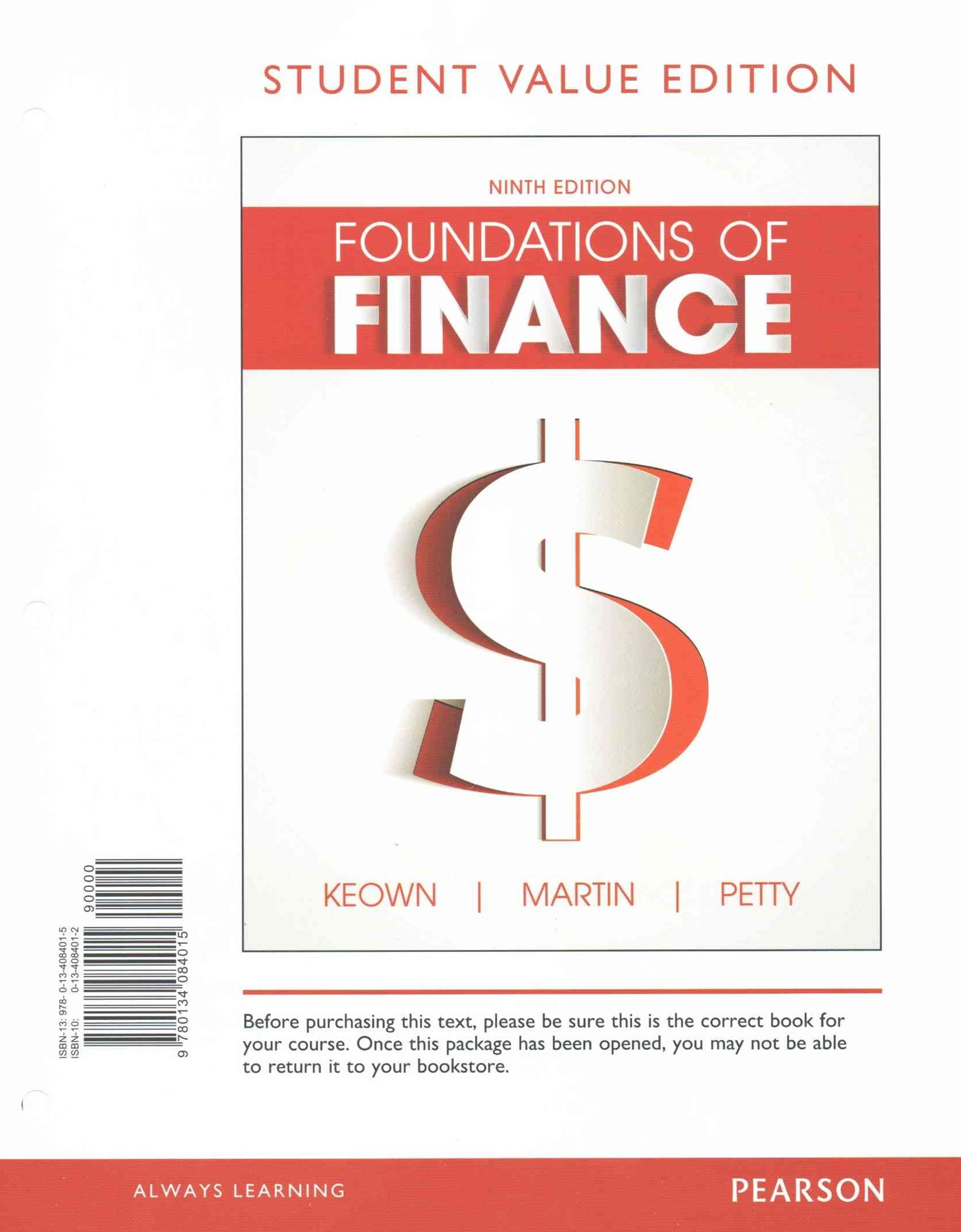 Foundations of Finance, Student Value Edition Plus MyFinanceLab with Pearson EText - Access Card Package