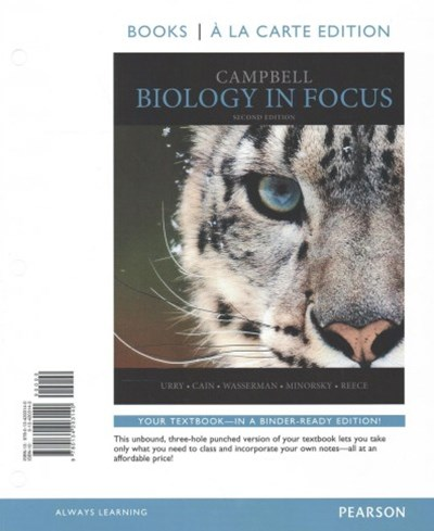 Campbell Biology in Focus, Books a la Carte Edition; Modified MasteringBiology with Pearson EText -