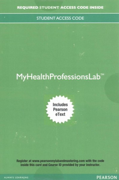 Pearson's Comprehensive Medical Assisting Myhealthprofessionslab + Pearson Etext Access Card