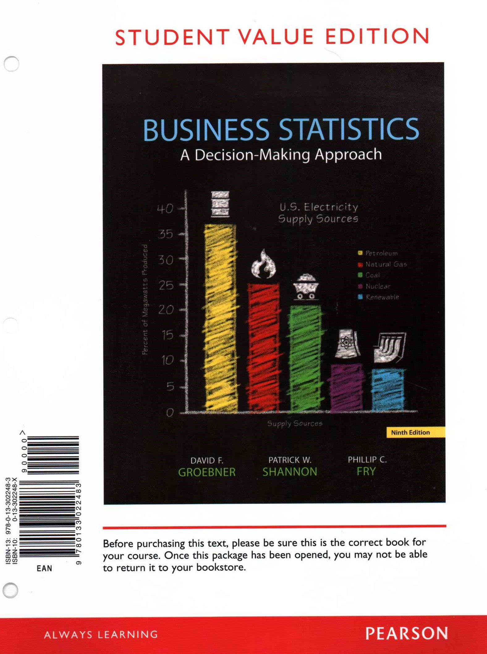 Business Statistics, Student Value Edition and PHStat
