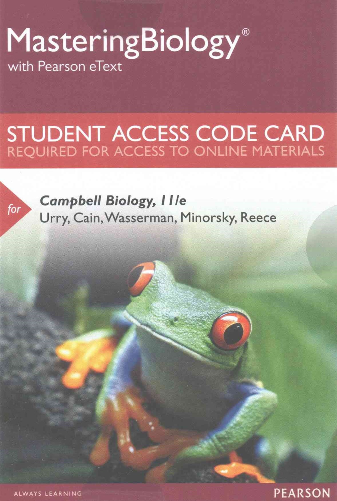 MasteringBiology with Pearson EText -- Standalone Access Card -- for Campbell Biology