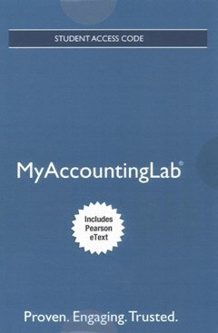MyAccountingLab with Pearson EText -- Access Card -- for Horngren