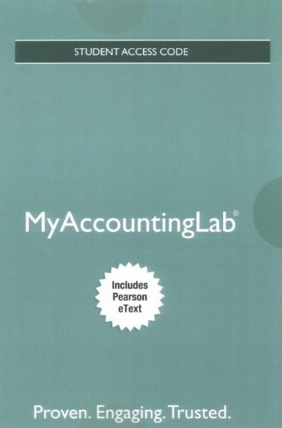 MyAccountingLab with Pearson EText -- Access Card -- for Horngren's Accounting