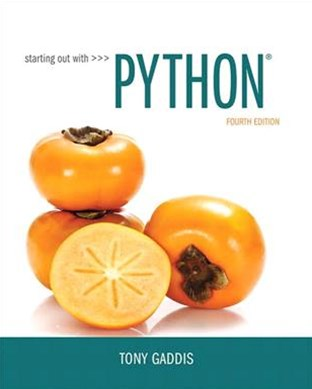 Starting Out With Python + Myprogramminglab With Pearson Etext