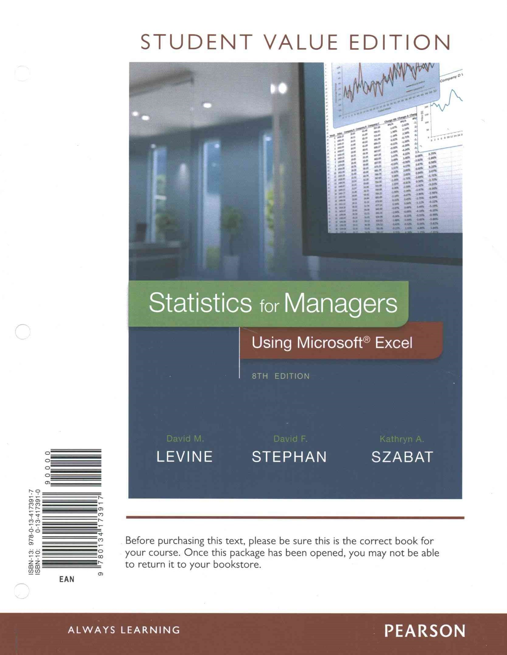Statistics for Managers Using Microsoft Excel, Student Value Edition with PHStat