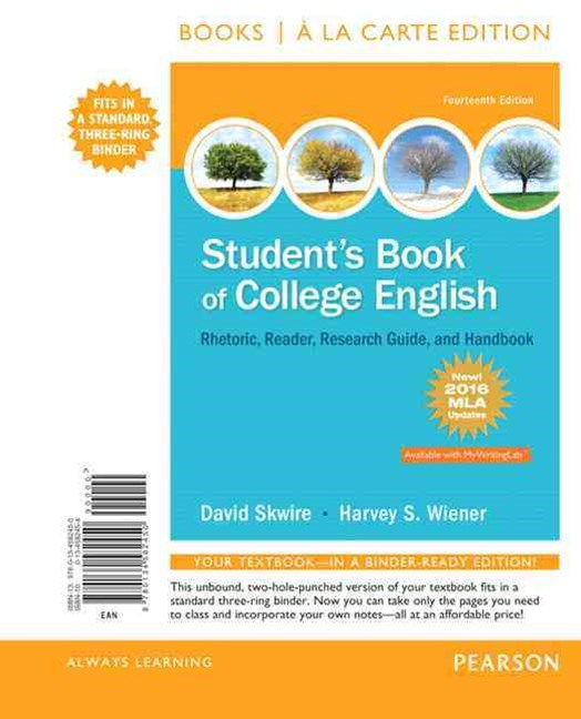 Student's Book of College English, Books a la Carte Edition, MLA Update Edition