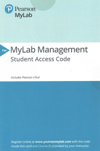 MyLab Management Pearson MyLab Access Code