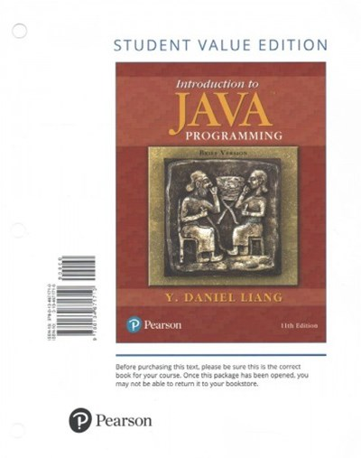 Introduction to Java Programming + Myprogramminglab With Pearson Etext