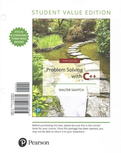 Problem Solving With C++ + Myprogramminglab With Pearson Etext
