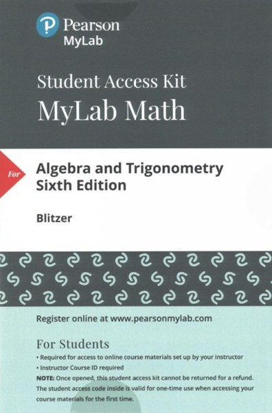 Algebra and Trigonometry Mymathlab + Pearson Etext Standalone Access Card