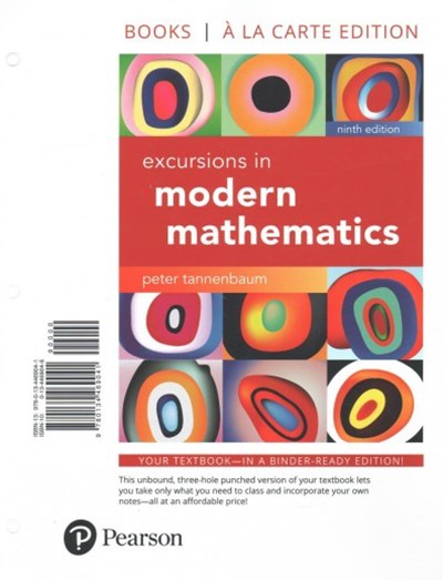 Excursions in Modern Mathematics, Loose-Leaf Version Plus MyMathLab -- Access Card Package