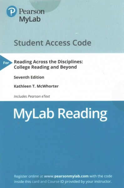 Reading Across the Disciplines MyLab Reading Access Code
