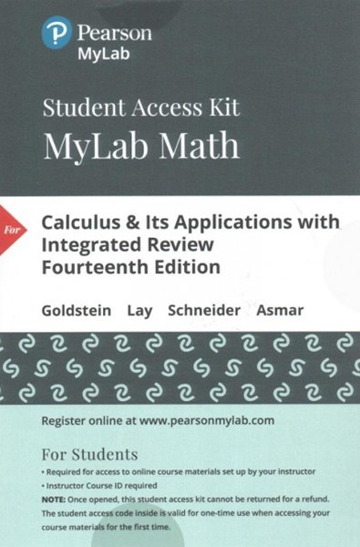 MyMathLab with Pearson EText -- Standalone Access Card -- for Calculus and Its Applications with Integrated Review