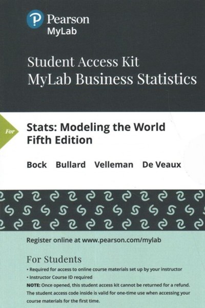 Stats Mystatlab With Pearson Etext Standalone Access Card