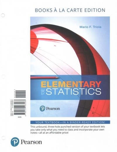 Elementary Statistics + Guided Workbook + Mystatlab With Pearson E-text