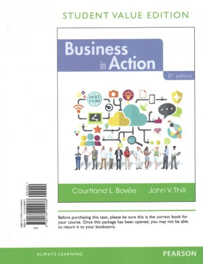 Business in Action + 2017 Mybizlab With Pearson Etext