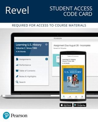 Revel for Learning U.s. History, Quarter 3 Access Card