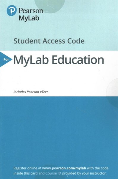 Mylab Education Pearson Etext Access Card for Elementary and Middle School Mathematics